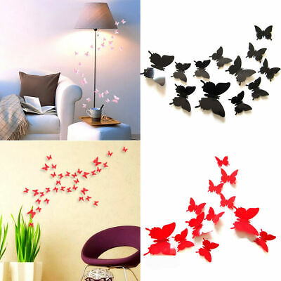 AU2.16 • Buy 12Pcs 3D Creative Butterfly Wall Stikers Art Decals Room Fun Decal Home Decor