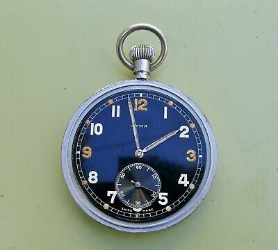 Cyma Military Pocket Watch Working • 130£