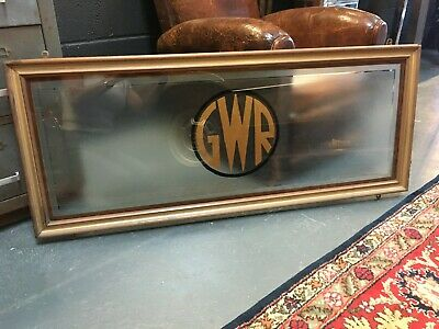 Hand Painted Train Railway Great Western Rail GWR  Frosted Glass Framed Panel • 150£