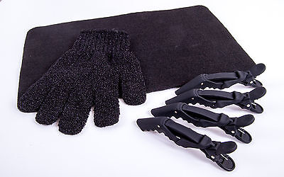 £7.99 • Buy Heat Protection Hair Glove, Heat Proof Mat  & 4 X Cloud 9 Clips For GHD & Others
