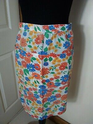 £8.99 • Buy Vintage  Half Apron Pinny Floral  With Front Pockets