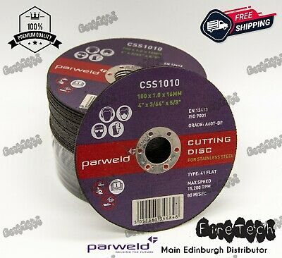 £6.41 • Buy Parweld (4 ) 100mm X 1mm X 16mm Thin Stainless Steel Metal Cutting Discs