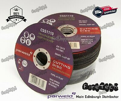 £6.60 • Buy Parweld (4.5 ) 115mm X 1mm X 22.2mm Thin Stainless Steel Metal Cutting Discs