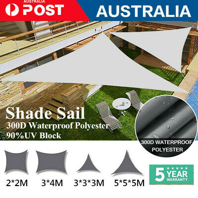 AU39.73 • Buy Heavy Duty Shade Sail Shade Cloth Grey Sun Triangle Square Rectangle Snow Proof