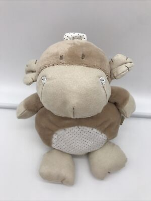 "Mamas And Papas Beige Montee Monkey Spotty Tummy Plush Soft Toy Height 10"" • 9.99£"