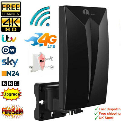 £17.98 • Buy 1byone Indoor/Outdoor TV Antenna Digital Freeview Aerial Signals 4G LTE Antenna