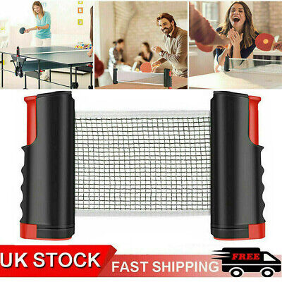 New Table Tennis Kit Ping Pong Set Portable Retractable Net UK Stock • 8.99£