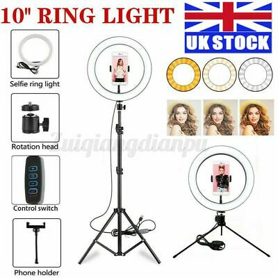 12inch LED Ring Light With Tripod Stand Phone Holder Makeup Youtube Live Lamp UK • 22.79£