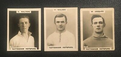 £9 • Buy 3 Cigarette Cards Tottenham Players By Godfrey Phillips 1922 Pinnace Footballers