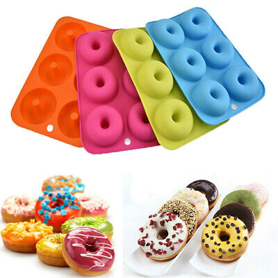 AU6.18 • Buy 6-Cavity Silicone Donut Moulds Non-Stick Baking Tray Heat Resistance Mold