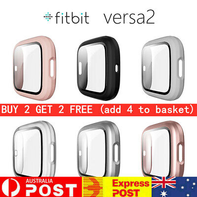 AU11.29 • Buy NEW 360 Full Cover With 9H Tempered Glass For Fitbit Versa 2 Band Smart Watch