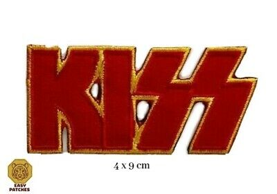 £1.89 • Buy KISS Iron On Sew On Embroidered Patch Rock Biker Metal Band