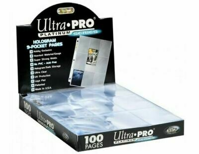 Ultra Pro Platinum A4 Trading Card 9 Pocket Page Sleeves 1 - 200 Pokemon Yugioh • 3.49£