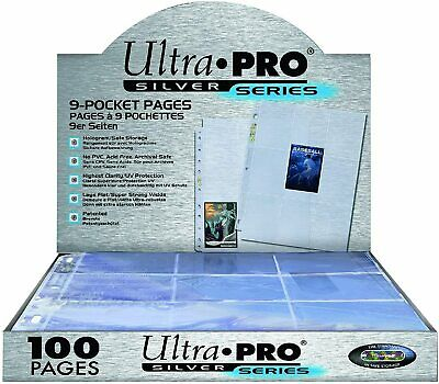 £19.49 • Buy Ultra Pro Silver Series 9 Pocket A4 Pokemon MTG Trading Card Sleeve Pages 1-200