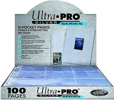 Ultra Pro Silver Series 9 Pocket A4 Pokemon MTG Trading Card Sleeve Pages 1-200 • 2.99£