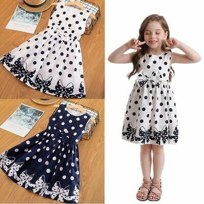 1pc Sleeveless Polka Dots Dress For Kids Girls Casual Outdoor Clothing Party • 11.30£