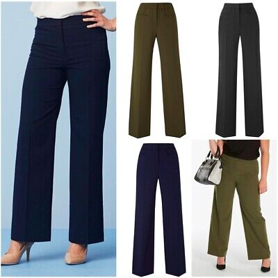 £11.99 • Buy JD Magisculpt Ladies Formal Stretch Wide Leg Tailored Control Zip Trousers Size