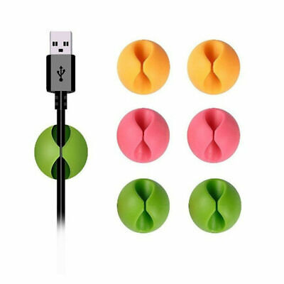 £1.99 • Buy Cable Drop Clip Desk Tidy Organiser USB Wire Cord Lead Charger Holder IPhone Mac