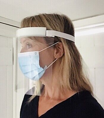 Face Shield Full Face Visor Protection Mask PPE Shield Clear Plastic Transparent • 1.95£
