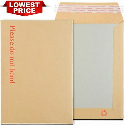 $6.24 • Buy Please Do Not Bend Hard Card Board Backed Envelopes Envelope Seal Brown A4 A5