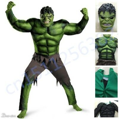 $13.49 • Buy The Avengers Hulk Muscle Mask Costume Boys Cosplay Kids Carnival Fantasy Clothes