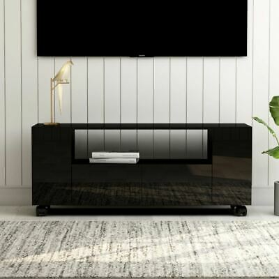 AU126.95 • Buy TV Unit Stand Media Console Entertainment Display Cabinet With Wheels High Gloss