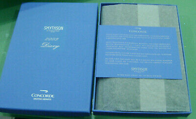 Smythson Of Bond Street CONCORDE 2003 Diary, Wallet, Notelets & Silver Pencil  • 45£