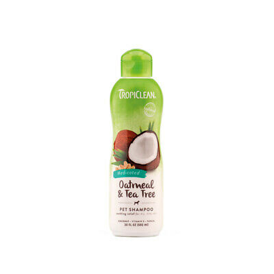 £13.95 • Buy Tropiclean Oatmeal & Tea Tree Natural Pet Shampoo - Soothes Dry Itchy Skin