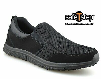 Ladies New Leather Slip On WIDE Fit Walking Work Womens Trainers Shoes New Sizes • 15.48£