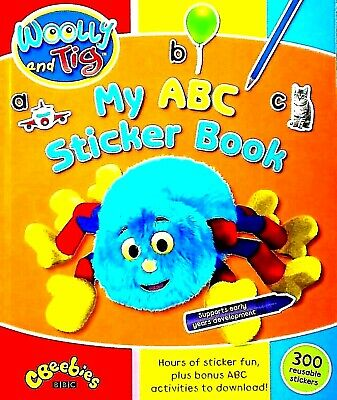 My ABC, Woolly And Tig, Reusable Stickers, Children's Activity Book, CBeebies • 3.59£