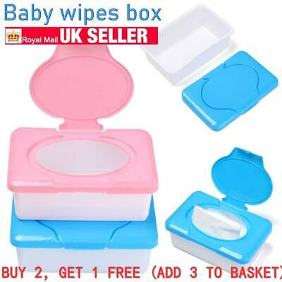 Dry Wet Tissue Paper Case Baby Wipe Napkin Storage Box Container Plastic UK NEW • 3.99£