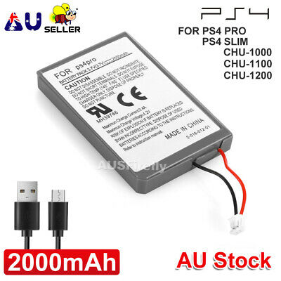 AU8.95 • Buy PS4 Battery + Cable For Sony Playstation 4 Controller 2000mAh Rechargeable Liion