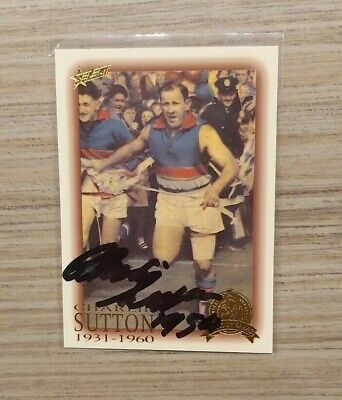 AU40 • Buy Western Bulldogs - Charlie Sutton Hand Signed Card 1996 Hall Of Fame Card