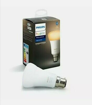 AU57.79 • Buy Philips Hue B22 White Ambiance Smart Bulb With Bluetooth