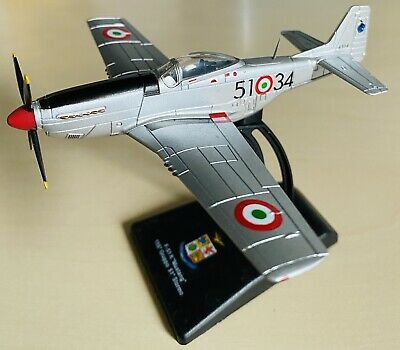 MUSTANG F-51K FIGHTER 1/100 Scale Diecast Model Aircraft 155 GRUPPO STORMO BNIB • 11£