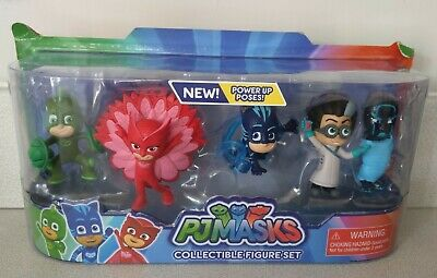 PJ MASKS Collectible Figure Set - Gekko Catboy Owlette Night Ninja Playset Toy • 15£