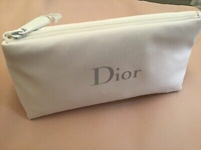 £7.99 • Buy DIOR White Travel Pouch- BRAND NEW