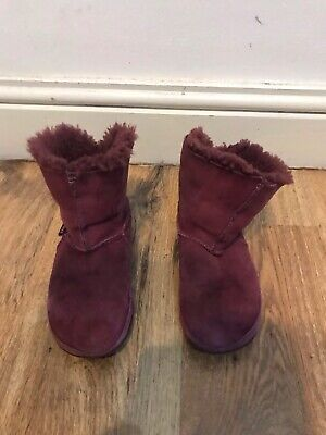 Girls FitFlop Suede Ankle Boots UK 13 EU 32 • 12£