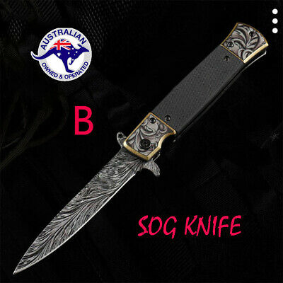 AU20.99 • Buy Folding Knife Hunting Camping Survival Fishing Outdoor Pocket Tactical Knife AU