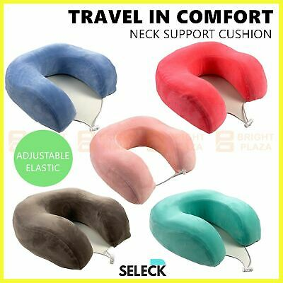 AU14.95 • Buy Memory Foam Travel Neck Pillow Solid Colours U Shaped Head Rest Cushion Portable