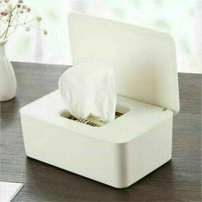 Tissue Wet Wipes Dispenser Holder Paper Storage Box Case With Lid Dustproof • 8.99£
