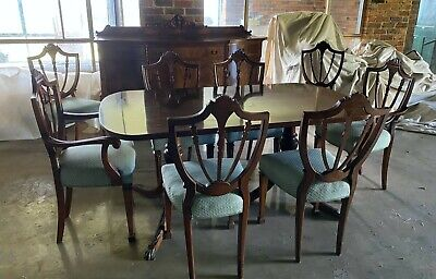 AU300 • Buy Hepplewhite Dining Table, Chairs And Buffet