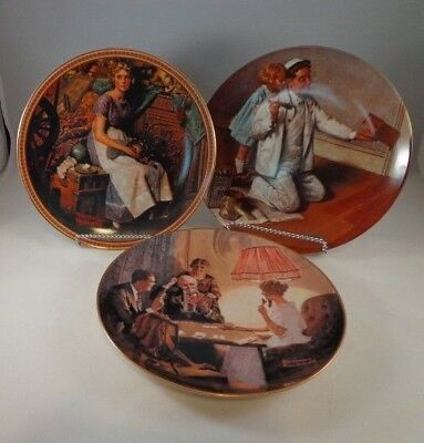 $ CDN12.63 • Buy 3 Norman Rockwell  Plates The Painter Room That Light Made Rediscovered Women