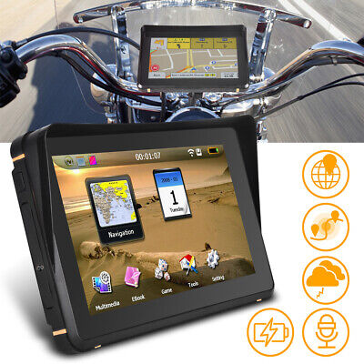 AU133.94 • Buy 7 Waterproof Car Motorcycle Motorbike GPS 256.8G HD AT NAV Android Navigat+Maps