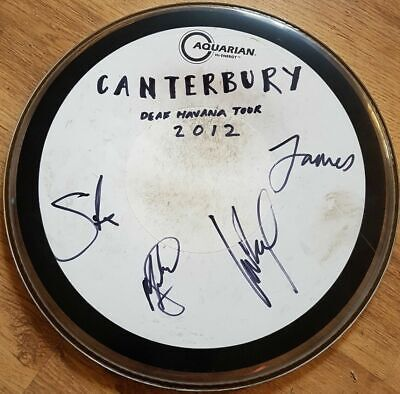 CANTERBURY Signed Drum Skin DEAF HAVANA TOUR Used COA • 49.99£