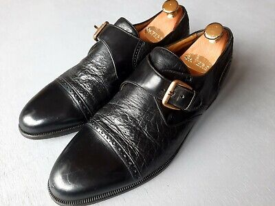 Vtg Moreschi Russell Bromley Monkstrap Shoes (8) Calf/peccary Leather Oxford -   • 59.99£