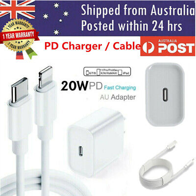 AU17.99 • Buy For IPhone 12 Pro Max 11 IPad 20W USB Type-C Wall Fast Charger PD Power Adapter