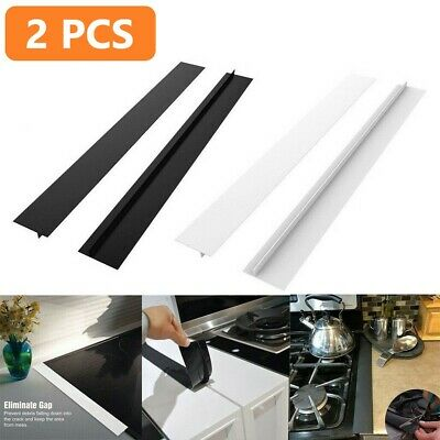 £6.99 • Buy 2x Silicone Stove Counter Gap Cover Spill Guard Seals Filler For Cooker Worktop