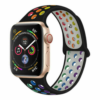 AU9.99 • Buy Silicone Sports Band Strap For Apple Watch Series 6 5 4 3 2 1 SE 38/40mm 42/44mm