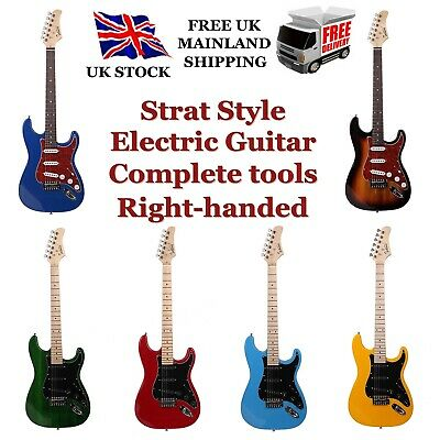 $ CDN114.08 • Buy Glarry Strat-styled Electric Guitar Set Bag+Pick+Strap+Tool Case Sting Stand
